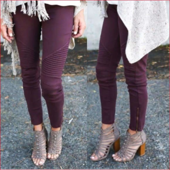 Sexy and Casual Pleated Leggings