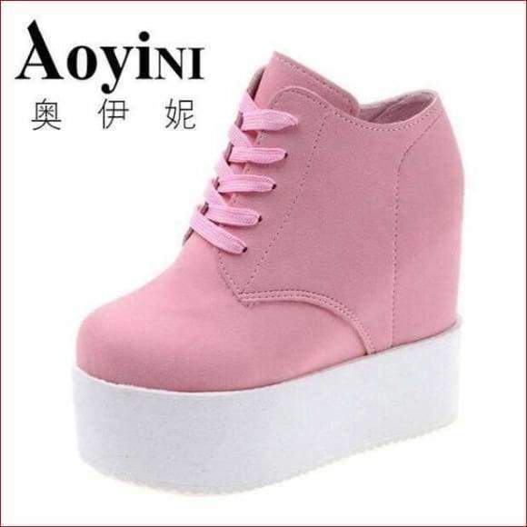 Super cool & Sexy zapatos mujer Platform ladies Canvas Shoes.