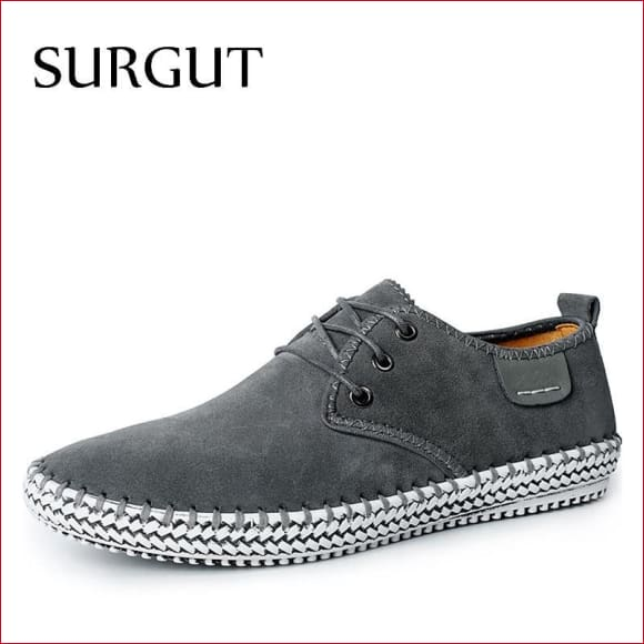 SURGUT 100% Genuine Suede Leather men Casual Shoes.