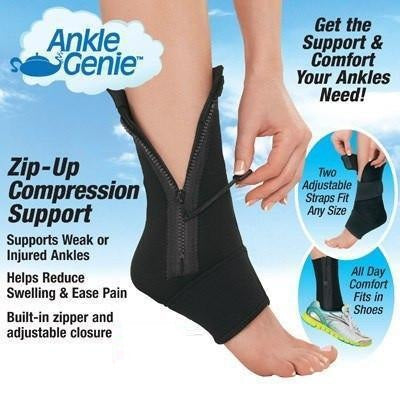 Zippered Pain Relief Open Toe Ankle Socks (Single Leg Only)