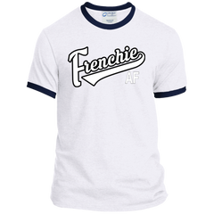 Frenchie AF Ringer Tee - Men's T-Shirts I Love Frenchie Bulldogs