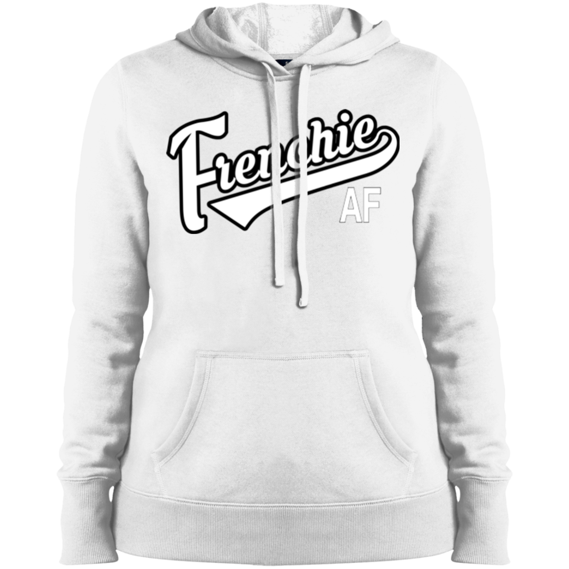 Frenchie AF Womens Pullover Hoodie - Women's Sweatshirts I Love Frenchie Bulldogs