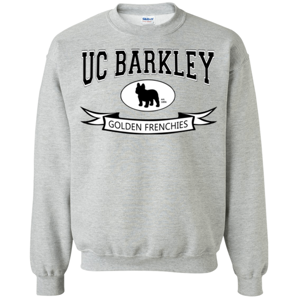 UC Barkley Crewneck Pullover Sweatshirt - Men's Sweatshirts I Love Frenchie Bulldogs
