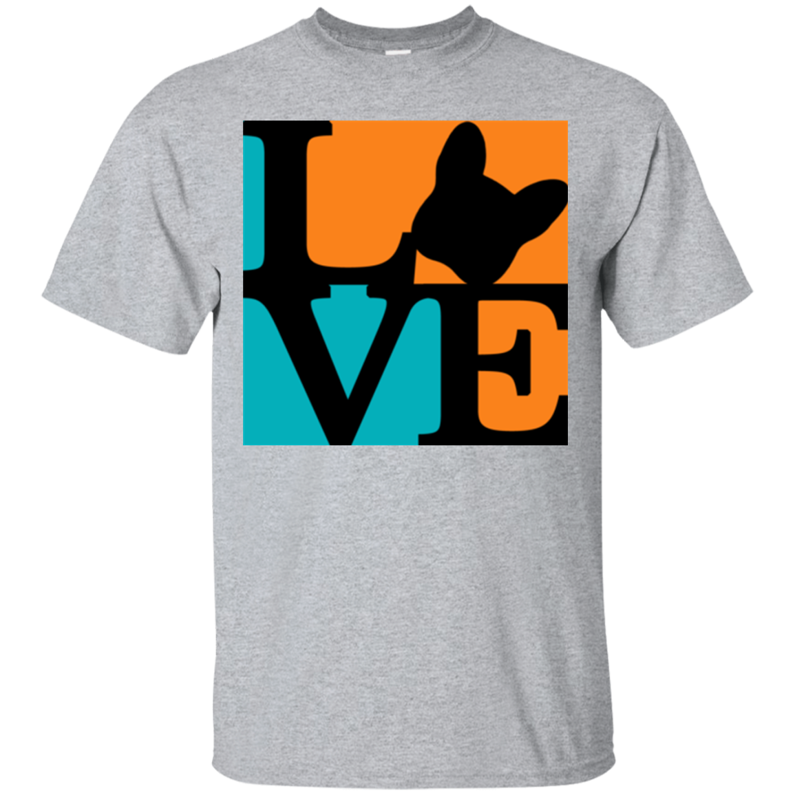 Frenchie Love T-Shirt - Men's T-Shirts I Love Frenchie Bulldogs