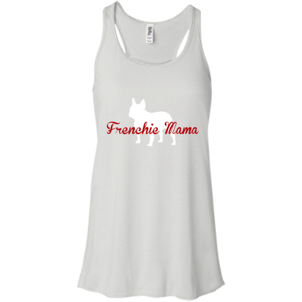 Frenchie Mama Womens Flowy Racerback Tank - Women's Tanks I Love Frenchie Bulldogs