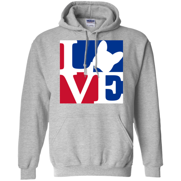 Frenchie Love Pullover Hoodie - Men's Sweatshirts I Love Frenchie Bulldogs