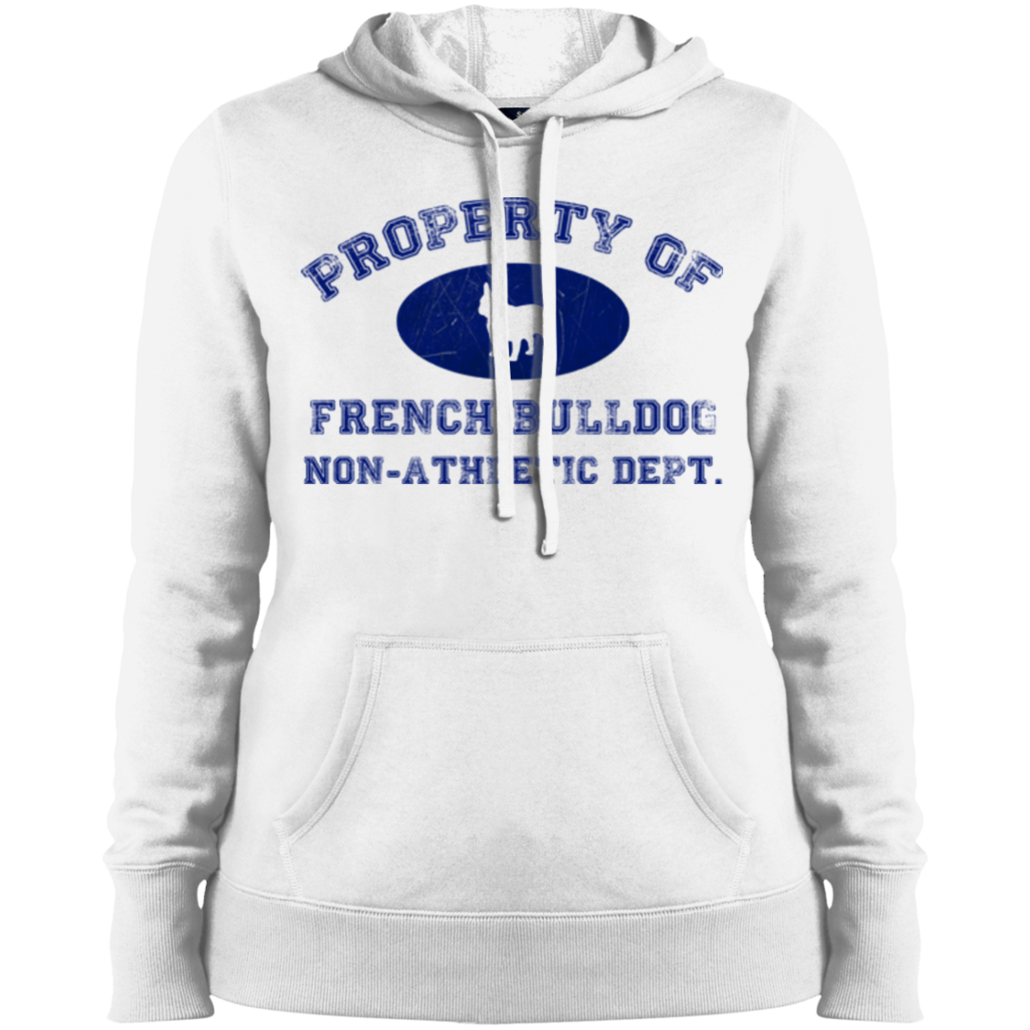 French Bulldog Non-Athletic Dept. Womens Pullover Hoodie - Women's Sweatshirts I Love Frenchie Bulldogs