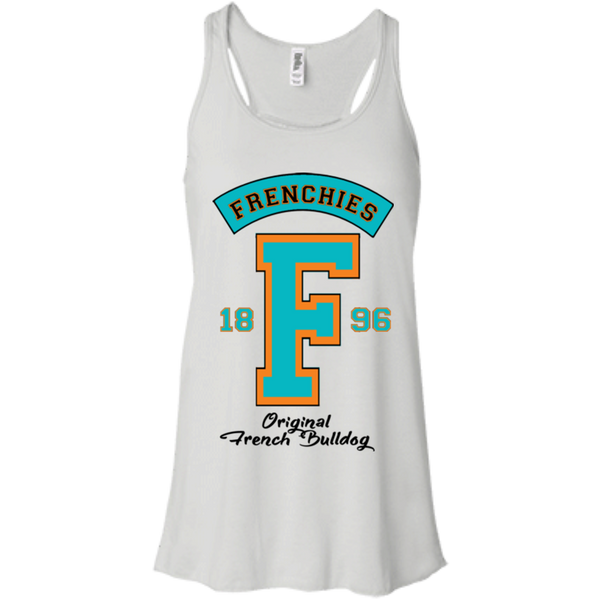 Frenchies Est 1896 Womens Flowy Racerback Tank - Women's Tanks I Love Frenchie Bulldogs