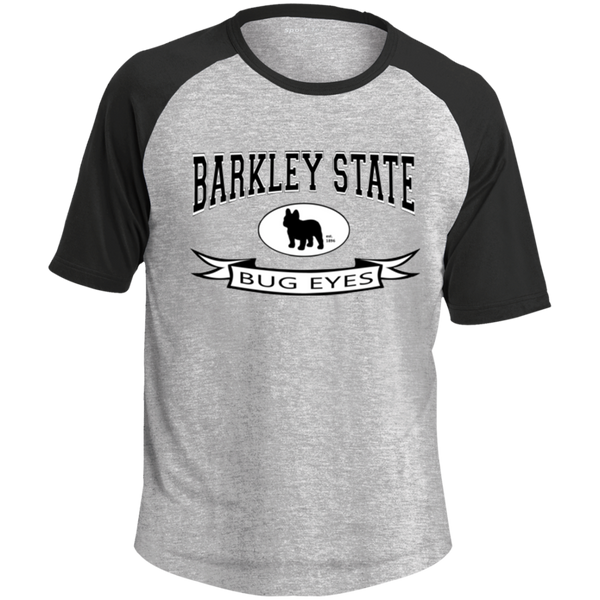 Barkley State Bug Eyes Colorblock Raglan Jersey - Men's T-Shirts I Love Frenchie Bulldogs