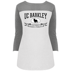 UC Barkley Womens Rally 3/4 Sleeve T-Shirt - Women's Tees I Love Frenchie Bulldogs