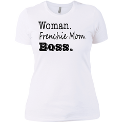 Woman Frenchie Mom Boss Womens Boyfriend Fit T-Shirt - Women's Tees I Love Frenchie Bulldogs