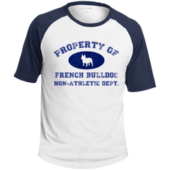 French Bulldog Non-Athletic Dept. Colorblock Raglan Jersey - Men's T-Shirts I Love Frenchie Bulldogs