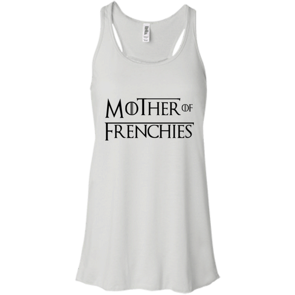 Mother of Frenchies Womens Flowy Racerback Tank - Women's Tanks I Love Frenchie Bulldogs