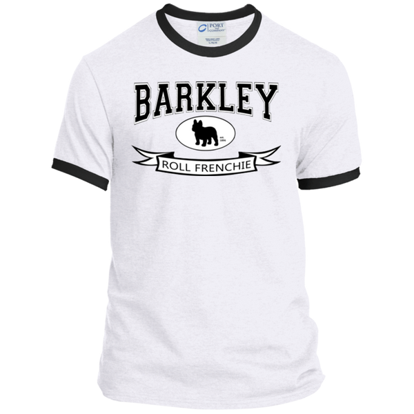 Barkley Roll Frenchie Ringer Tee - Men's T-Shirts I Love Frenchie Bulldogs