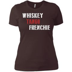 Whiskey Tango Frenchie Womens Boyfriend T-Shirt - Women's Tees I Love Frenchie Bulldogs
