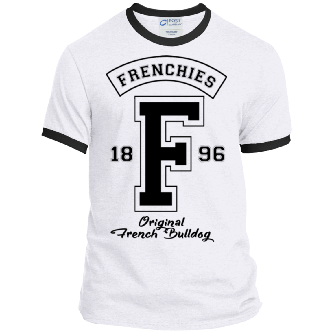 Frenchies Est 1896 Ringer Tee - Men's T-Shirts I Love Frenchie Bulldogs