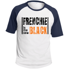 Frenchie is the New Black Colorblock Raglan Jersey - Men's T-Shirts I Love Frenchie Bulldogs