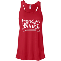 Frenchie By Nature Womens Flowy Racerback Tank - Women's Tanks I Love Frenchie Bulldogs
