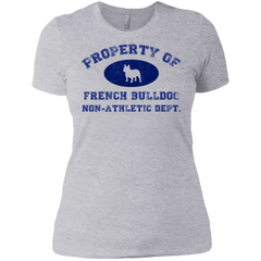 French Bulldog Non- Athletic Dept Womens Boyfriend Fit T-Shirt - Women's Tees I Love Frenchie Bulldogs