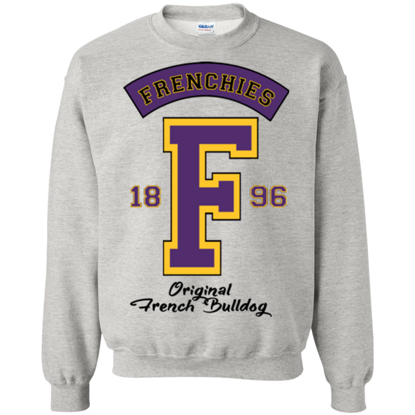 Frenchies Est 1896 Crewneck Pullover Sweatshirt - Men's Sweatshirts I Love Frenchie Bulldogs