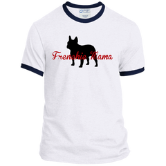 Frenchie Mama Ringer Tee - Women's Tees I Love Frenchie Bulldogs