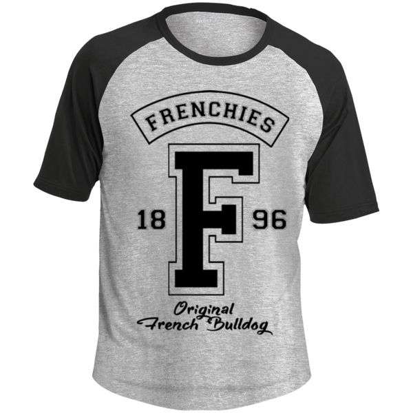Frenchies Est 1896 Colorblock Raglan Jersey - Men's T-Shirts I Love Frenchie Bulldogs