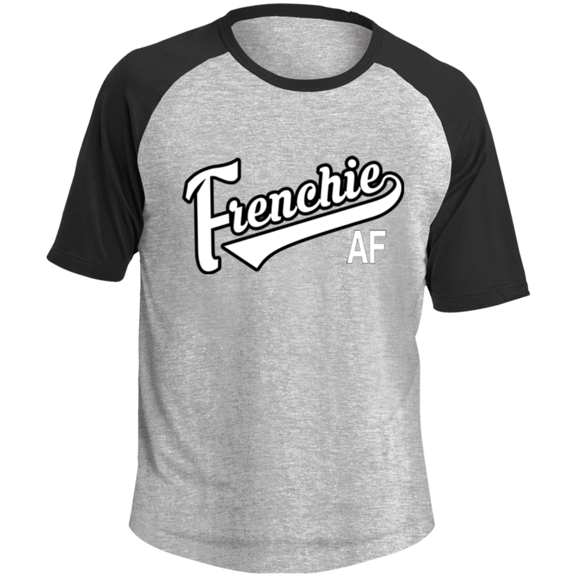 Frenchie AF Colorblock Raglan Jersey - Men's T-Shirts I Love Frenchie Bulldogs
