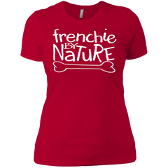Frenchie By Nature  Womens Boyfriend T-Shirt - Women's Tees I Love Frenchie Bulldogs