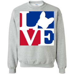 Frenchie Love Crewneck Pullover Sweatshirt - Men's Sweatshirts I Love Frenchie Bulldogs