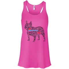 French Bulldog Love Subway Art Style Flowy Racerback Tank - Women's Tanks I Love Frenchie Bulldogs