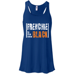 Frenchie is the New Black  Womens Flowy Racerback Tank - Women's Tanks I Love Frenchie Bulldogs