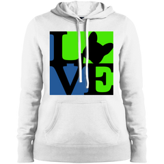 Frenchie Love Womens Pullover Hoodie - Women's Sweatshirts I Love Frenchie Bulldogs