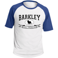 Barkley Roll Frenchie Colorblock Raglan Jersey - Men's T-Shirts I Love Frenchie Bulldogs