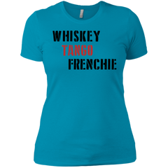 Whiskey Tango Frenchie Womens Boyfriend Fit T-Shirt - Women's Tees I Love Frenchie Bulldogs