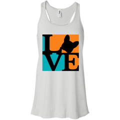Frenchie Love Womens Flowy Racerback Tank - Women's Tanks I Love Frenchie Bulldogs