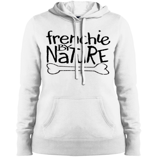 Frenchie by Nature Womens Pullover Hoodie - Women's Sweatshirts I Love Frenchie Bulldogs