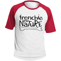 Frenchie by Nature Colorblock Raglan Jersey - Men's T-Shirts I Love Frenchie Bulldogs