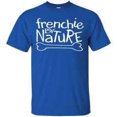 Frenchie By Nature T-Shirt - Men's T-Shirts I Love Frenchie Bulldogs