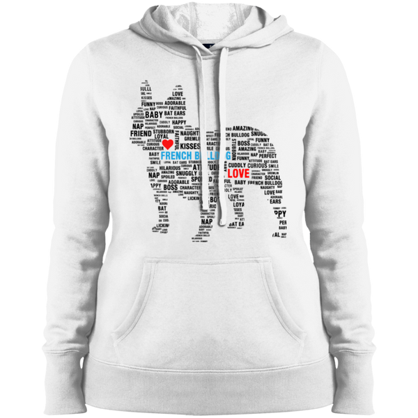 French Bulldog Love Subway Art Style Womens Pullover Hoodie - Women's Sweatshirts I Love Frenchie Bulldogs