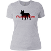 Frenchie Mama Womens Boyfriend Fit T-Shirt - Women's Tees I Love Frenchie Bulldogs
