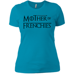 Mother of Frenchies Womens Boyfriend Fit T-Shirt - Women's Tees I Love Frenchie Bulldogs