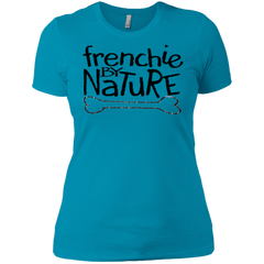 Frenchie By Nature Womens Boyfriend Fit T-Shirt - Women's Tees I Love Frenchie Bulldogs