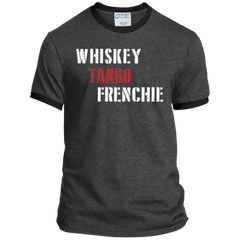 Whiskey Tango Frenchie Ringer Tee - Men's T-Shirts I Love Frenchie Bulldogs