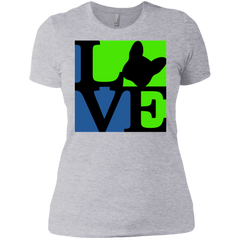 Frenchie Love Womens Boyfriend T-Shirt - Women's Tees I Love Frenchie Bulldogs