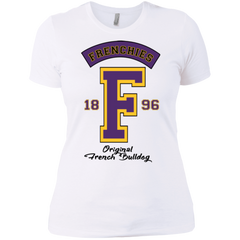 Frenchies Est 1896 Womens Boyfriend T-Shirt - Women's Tees I Love Frenchie Bulldogs