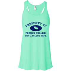 French Bulldog Non-Athletic Dept Flowy Racerback Tank - Women's Tanks I Love Frenchie Bulldogs