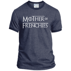 Mother of Frenchies Ringer Tee - Women's Tees I Love Frenchie Bulldogs