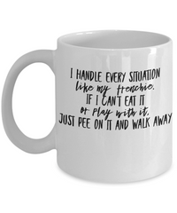 Just Pee On It - Coffee Mug I Love Frenchie Bulldogs