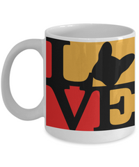 Love Red Yellow and Black - Coffee Mug I Love Frenchie Bulldogs