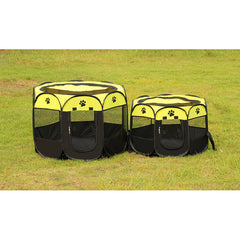 Portable Folding Puppy Playpen - Travel Gear I Love Frenchie Bulldogs